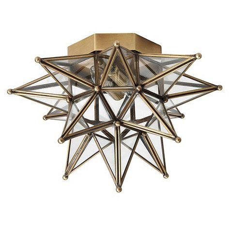 "Moravian Star Ceiling Mount Overall: 10""H X 14"" Diameter Ceiling Plate: 6 1/2"" Diameter"