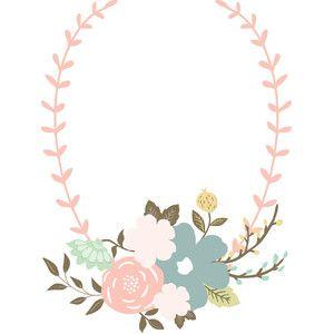 Silhouette Design Store - View Design #128096: floral wreath
