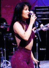 Selena Quintanilla Perez Purple Sparkly Jumpsuit