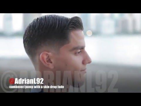 How to do a combover/pomp with a skin drop fade | by Adrian Lima - YouTube