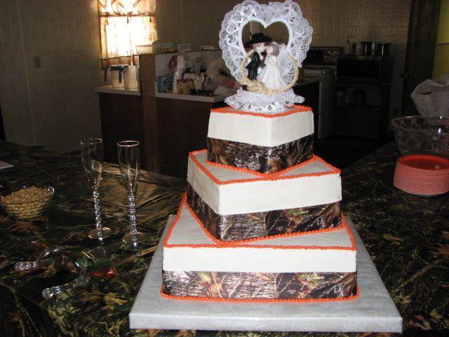 Orange And Camo Wedding Cakes