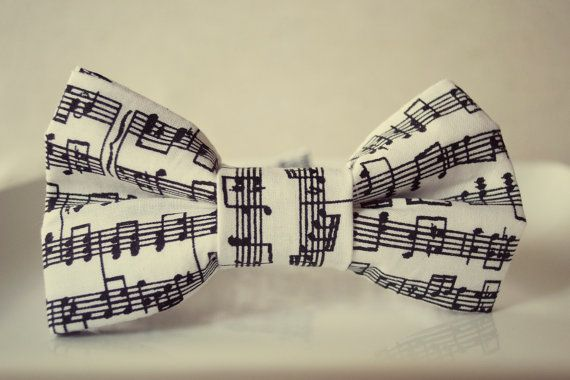 sheet music bow tie for little boy The Conductor by MamaMandolin, $18.00