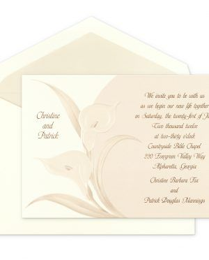 Natural Birchcraft Wedding Invitations With Flower Theme And Calm Color For Background Design Use Classic Font Ideas