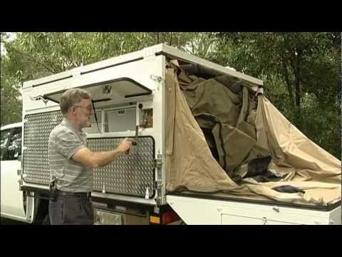 Wedgetail slide on camper demonstration - YouTube. They really thought out everything. Nice!