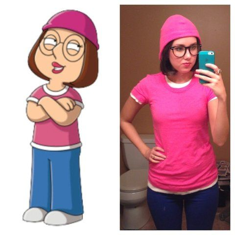Meg from Family Guy - one of the easiest, DIY costumes!