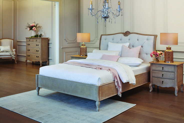 Queen Bed Frame, White Gloss Bedroom Furniture Nz