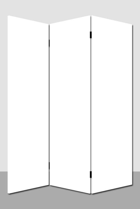 Kamerscherm Wit Blanco - Ontwerp / Maak je eigen Kamerscherm. Tekenen - Schilderen - Behangen of Beplakken. #DIY #DHZ