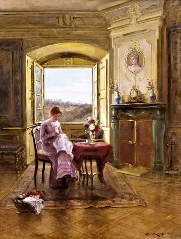 Lajos Ludwig Bruck - Castle interior summer afternoon*: