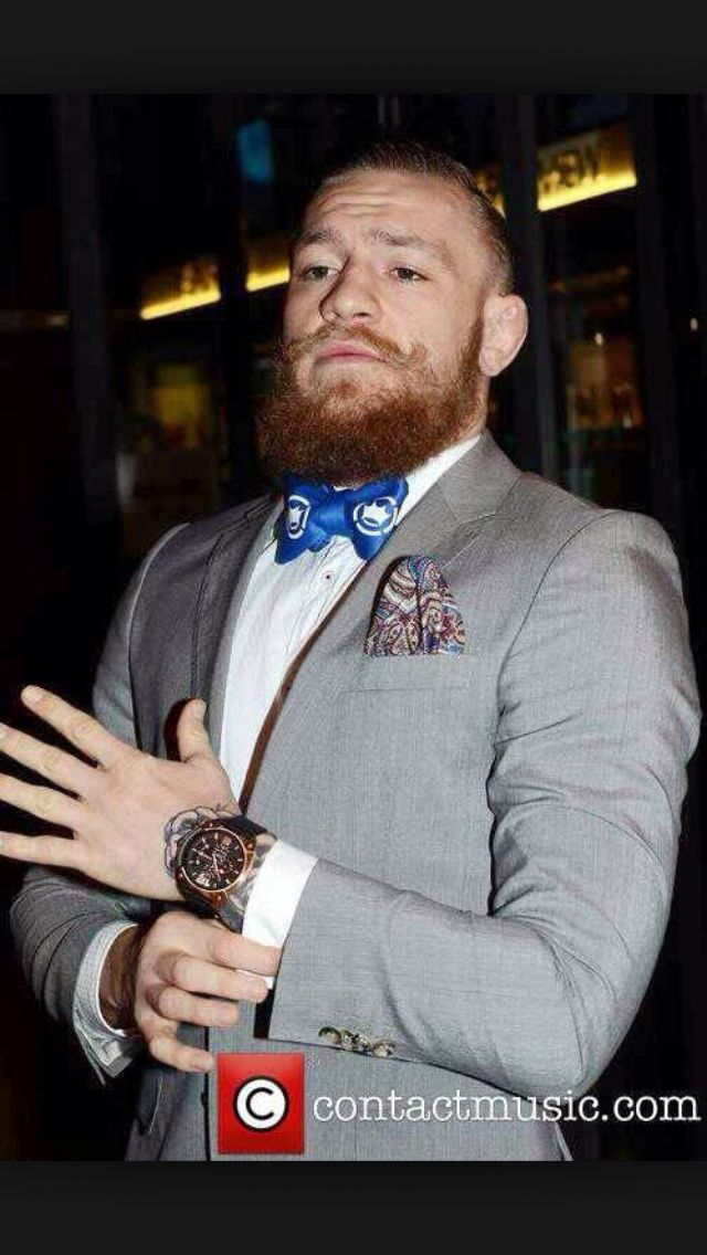 Conor mcgregor Suit bow tie