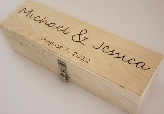 Wedding Time Capsule Wedding Wine Box  silver by naturallyaspen, $64.00