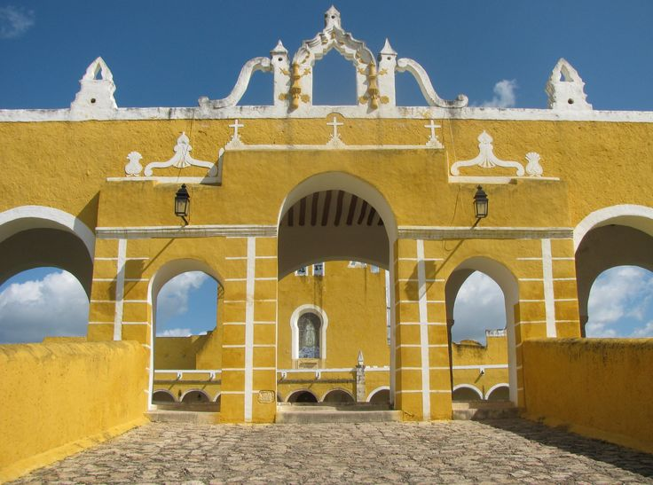 """Izamal is called the """"Yellow City"""" because all of the buildings in the city centre are painted yellow."""