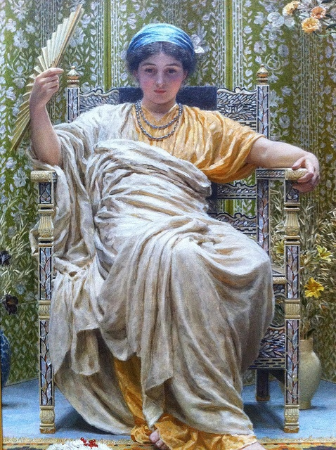 A Revery (1892) by Albert Joseph Moore (1841-1893) at the Getty Museum