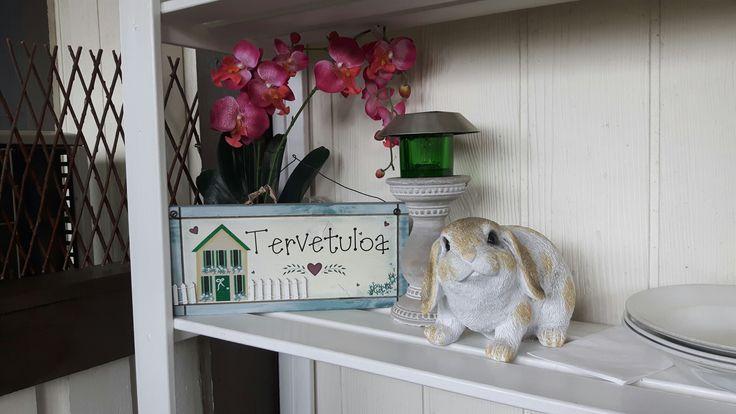 Terrace decor, welcome, tervetuloa, bunny, pupu, kuisti