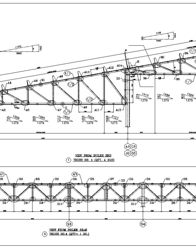 Truss Structure Details 7 Free Autocad Blocks Drawings Download Center Truss Structure Roof Truss Design Steel Structure