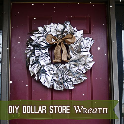 Make a Dollar Tree Silver #Christmas #Wreath @savedbyloves