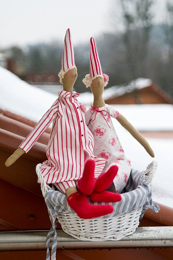 Tilda Pyjamas Angel Doll Christmas by RoyalHandicrafts on Etsy