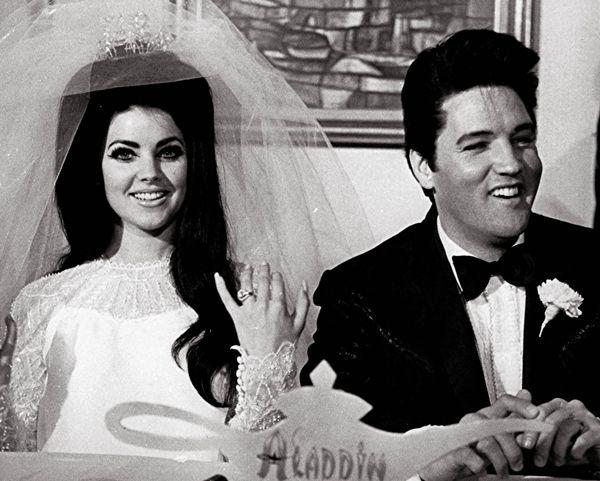 Priscilla & Elvis Presley on their wedding day. #wedding #style