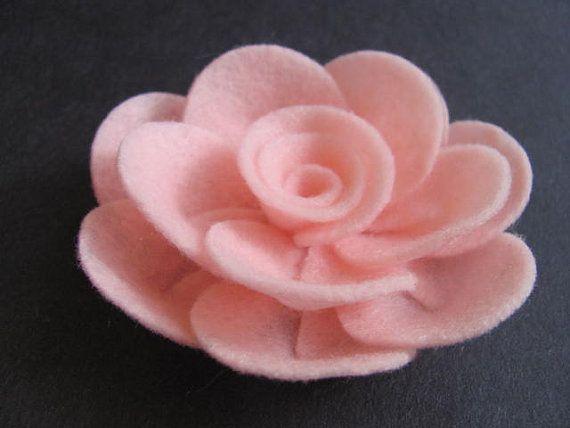 Felt Rose Pattern PENNY ROSE No Sew Felt Flower Tutorial Brooch Hairclip Headband PDF Tutorial ePattern eBook How To
