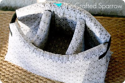 The Crafted Sparrow: DIY Camera Bag Tutorial - Insert to put in purs