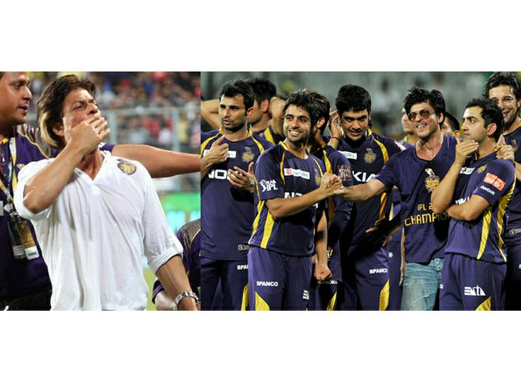 Bollywood superstar Shah Rukh Khan celebrated Kolkata Knight Riders' big win in Qualifier 1 of Indian Premiere league at the Eden Gardens in Kolkata.
