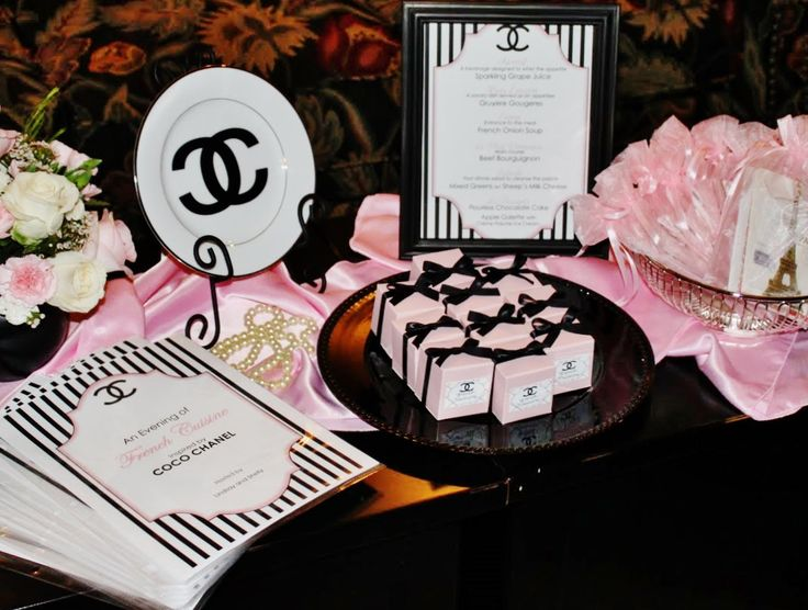 358 best chanel themed party images on Pinterest Theme parties