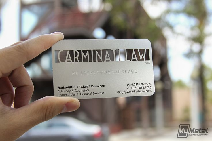 Lawyer Metal Business Cards