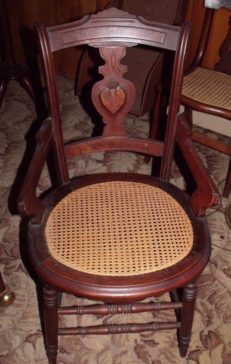 Auction company 751 walnut victorian marble top parlor table ca 1870 - Eastlake Walnut Victorian Side Chair W Hand Caned Seat Burle Wood Inlay Orig