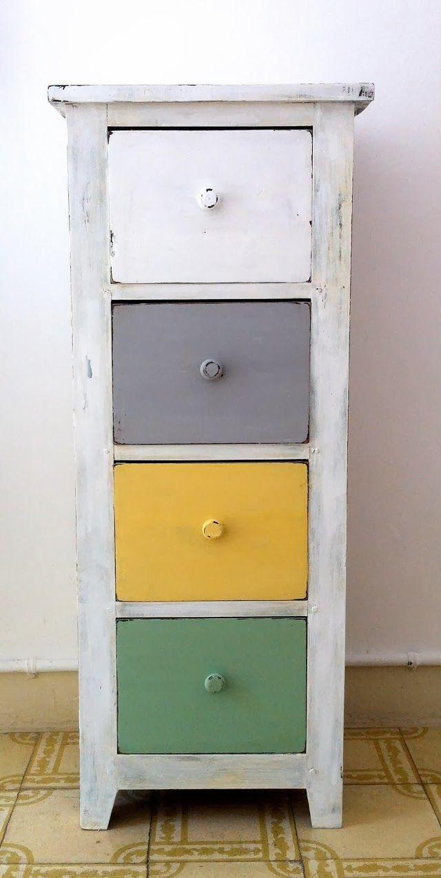 Antes y Después: Una cajonera pintada con Chalk Paint casera : x4duros.com