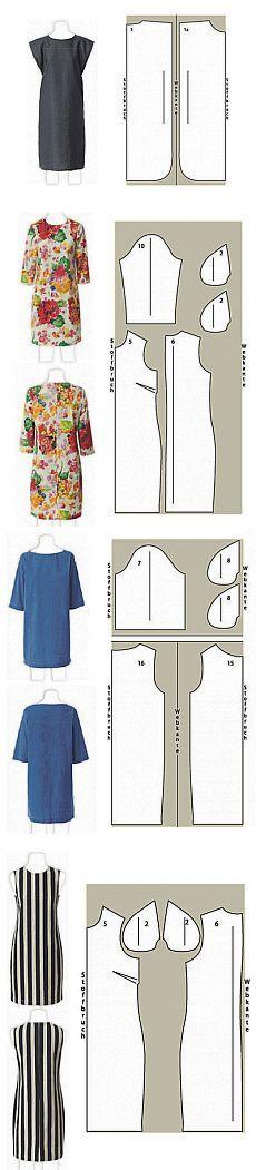 Şık elbiseler kendinizi dikmek - Yeni başlayanlar için.  Sekiz modeller - örnekler ve talimatları ..