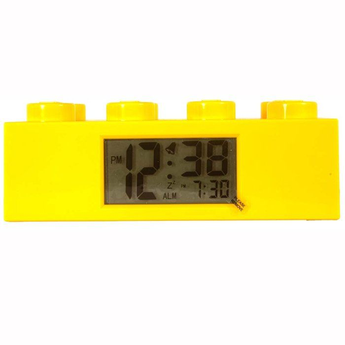 LEGO Brick Alarm ClockLego Yellow, Lego Bricks, Alarm Clocks, Bricks Clocks, Lego Bedrooms, Bricks Alarm, Lego Lovers, Boys Room, Yellow Bricks
