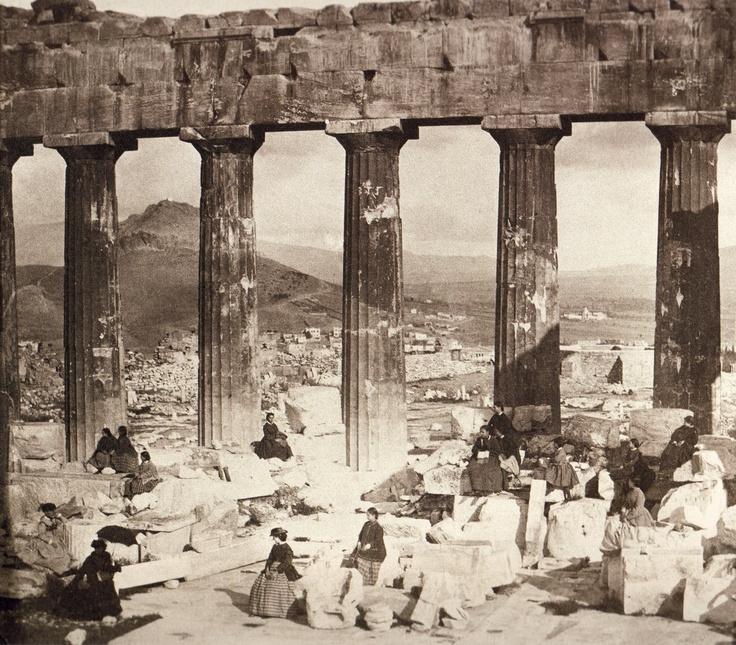 ΜΑΘΗΤΡΙΕΣ ΤΗΣ ΣΧΟΛΗΣ ΧΙΛΛ ΣΤΗΝ ΑΚΡΟΠΟΛΗ 1860 ( Φίλιππος Μαργαρίτης)