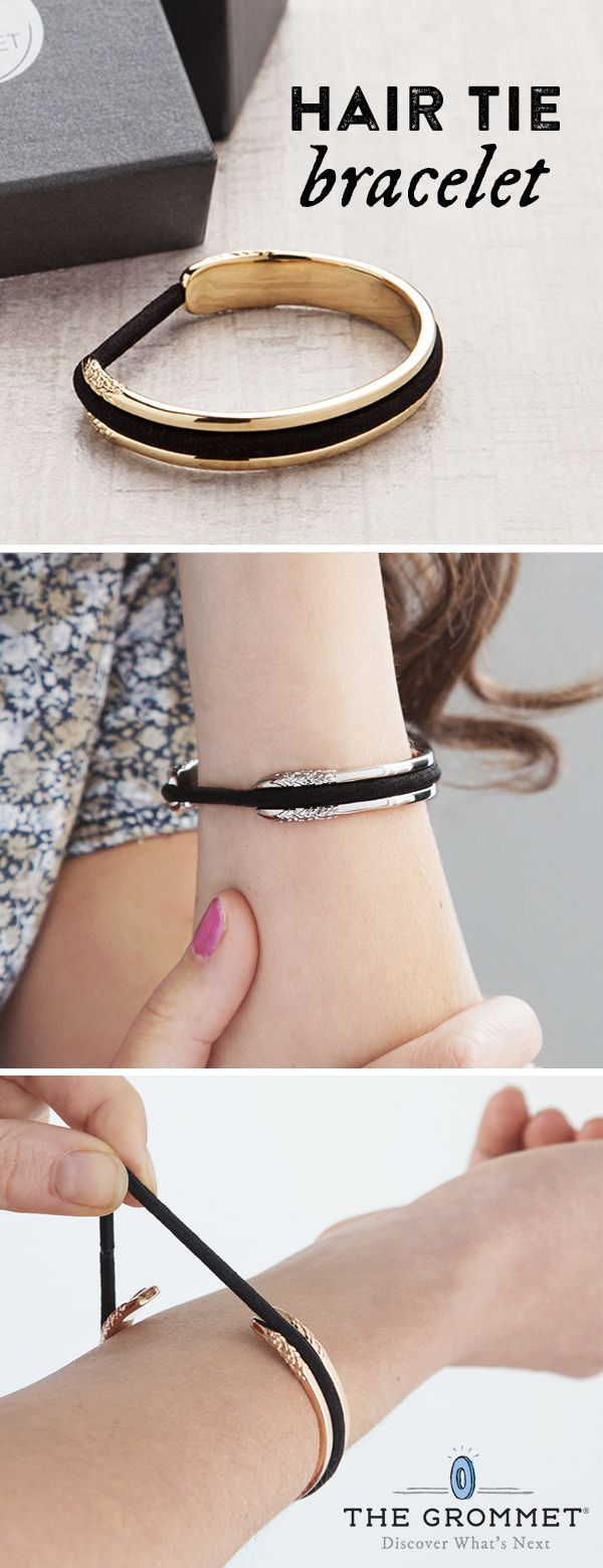 Carry a hair elastic on your wrist in a way that�s elegant AND keeps your wrist indent-free.