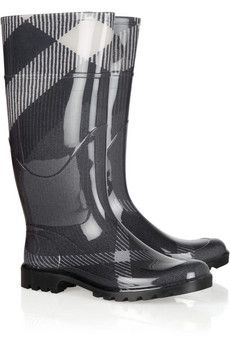 Burberry Shoes & Accessories  Checked Wellington boots