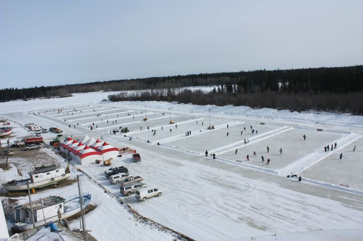 The Polar Pond Hockey Tournament in Hay River, Northwest Territories!