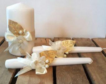 Mariage l'unité bougie sertie de pierres de Swarovski par ArtsLux