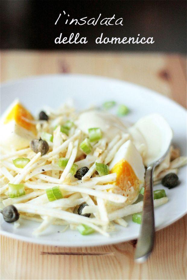 celery, mayonnaise and yogurt salad