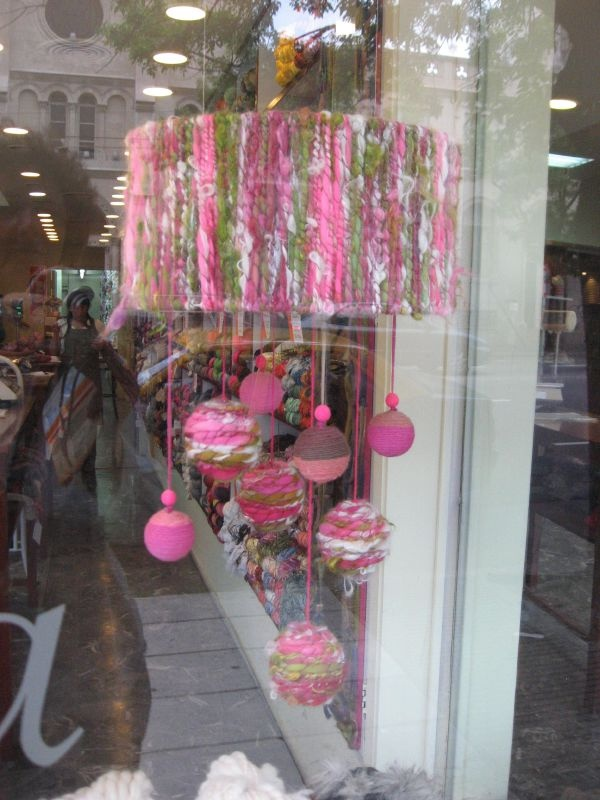 Yarn store window Scalabrini Ortiz by merlefried, via Flickr