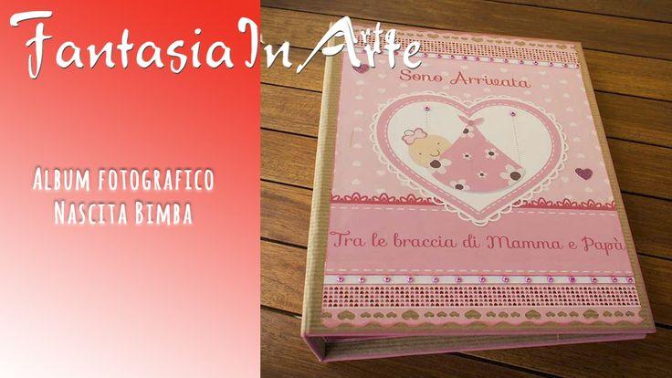 Album Nascita Bimba in stile Scrapbooking