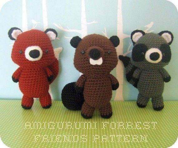 Crochet Forrest Friends PatternWoodland Creatures, Amigurumi Forrest, Forrest Friends, Amigurumi Pattern, Crochet Patterns, Forests Friends, Friends Crochet, Pattern Sets, Baby Gift