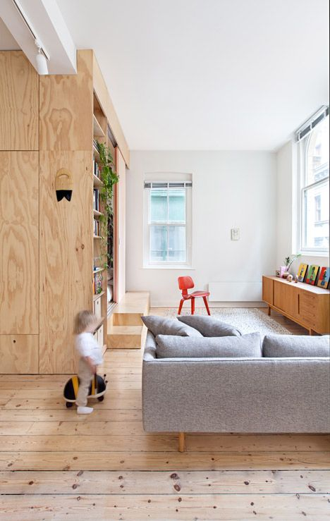 Plywood interior. Click on House Tour