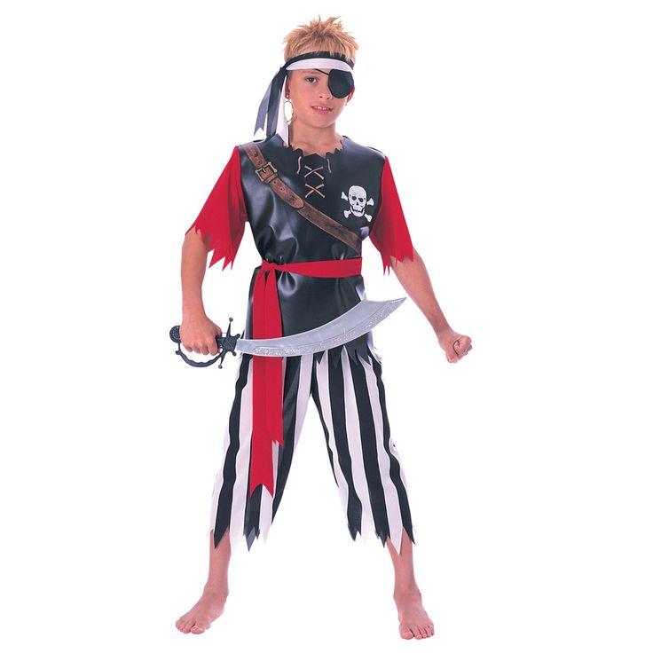 Piraten verkleedset bestaande uit een shirt, broek en hoofdband.Afmeting:  maat S - Verkleedset Piraat S