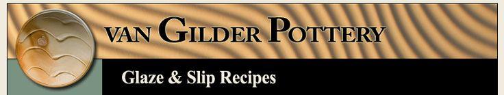 van Gilder Pottery - Glaze & Slip Recipes