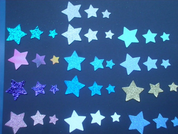 50 Glitter Night Star by ang744 on Etsy, $2.00