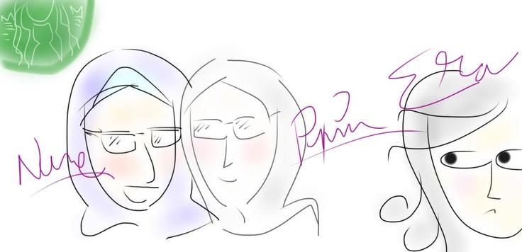 Me n Pipin poke fun at my friend Era, who always late. Hahaha!