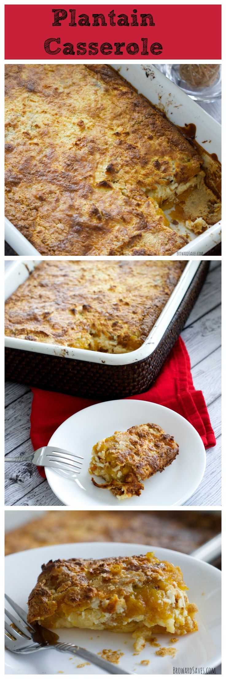 Amazing Plantain Casserole - A sophisticated side dish for any meal. Plus learn the secret that makes these so easy to make!