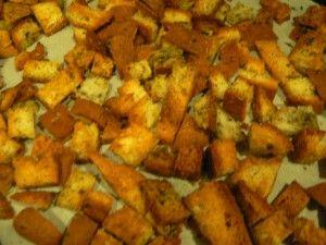 Easy Croutons w/ Udi's gluten-free end pieces!   Udi's® Gluten Free Bread
