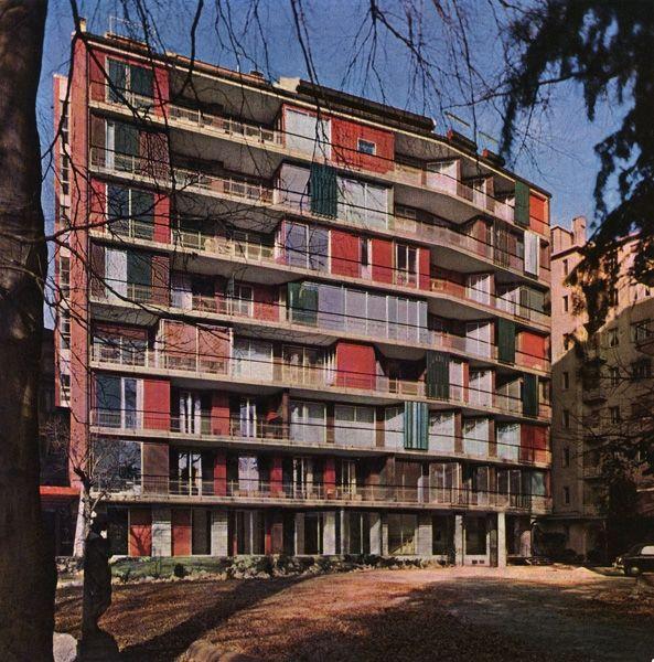 Giulio Minoletti, Condominio ai Giardini d'Arcadia in corso di Porta Romana, 1955-1959