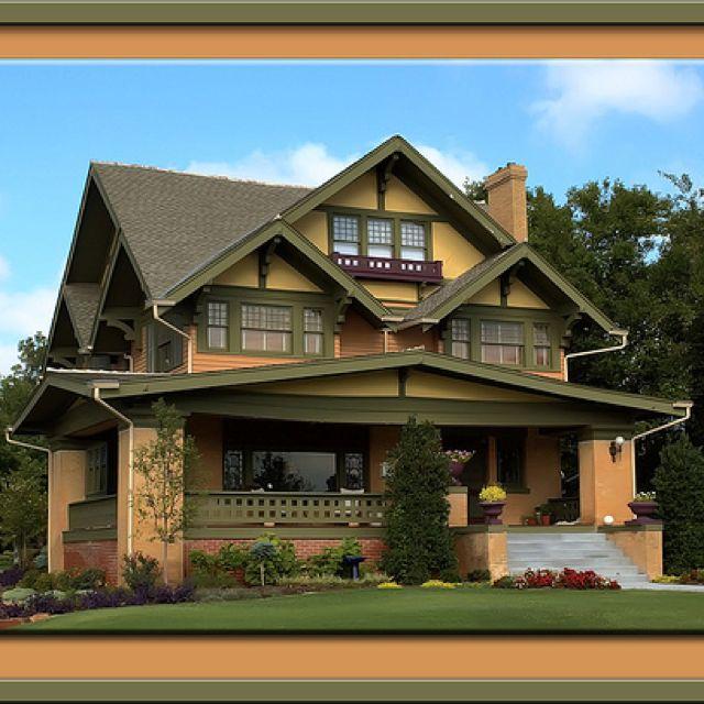 81 best craftsman style houses images on pinterest for Craftsman log homes