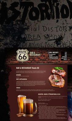 R66 restaurant webdesign by Artlandia