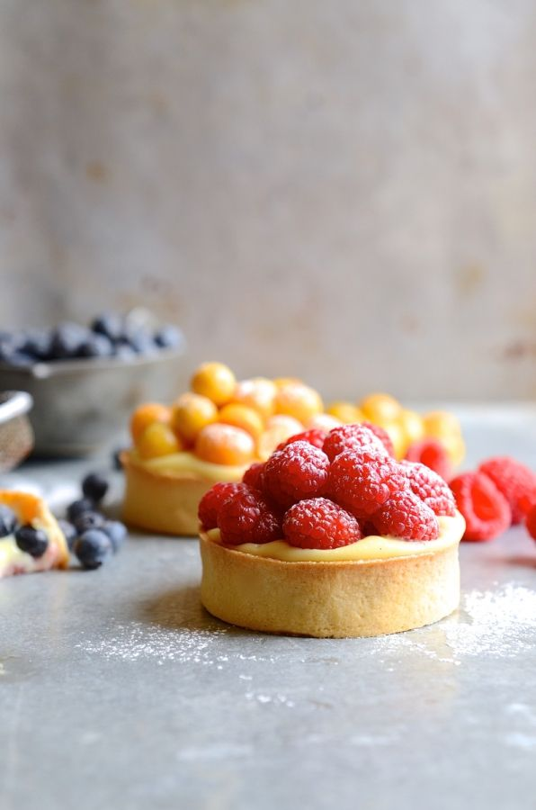 Crème pâtissière summer berry tarts | French patisserie | Baking |